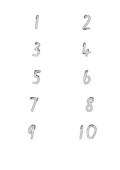 NSW Foundation Kindergarten Numbers