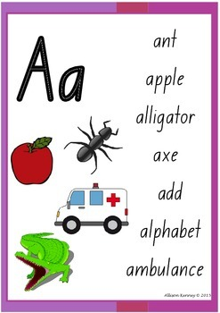 NSW Foundation font Alphabet and Wordbank Posters