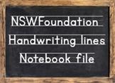 NSW Handwriting Notebook - modelled handwriting