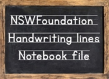 NSW Handwriting Notebook - modelled handwriting