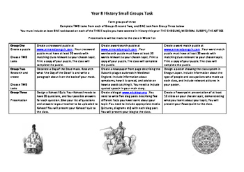 NSW History Stage 4 Year 8 Research Task Shogun Medieval A