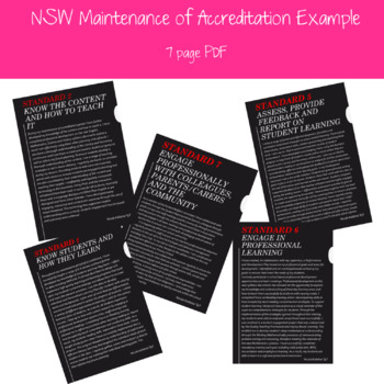 NSW Maintenance of Accreditation Example
