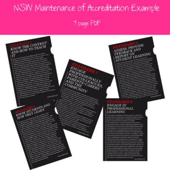 NSW Maintenance of Accreditation Example