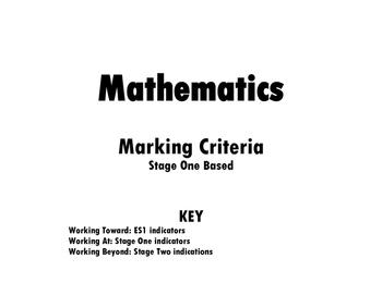 NSW Math Marking Rubric