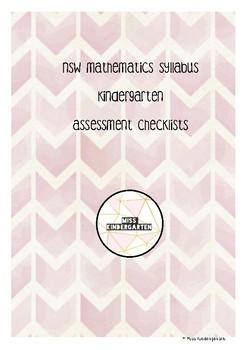 NSW Mathematics Syllabus Assessment Checklists - Kindergarten