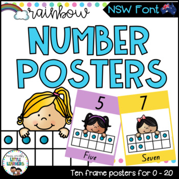 NSW Number Posters {Rainbow Theme}