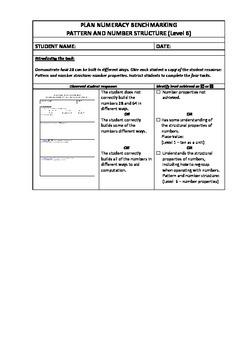 NSW Numeracy Benchmarking