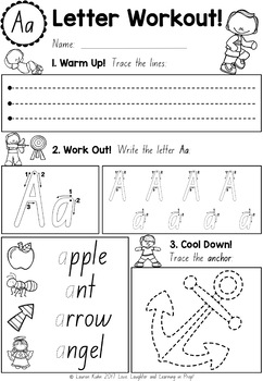 NSW Print Handwriting Worksheets {Letter Workout}