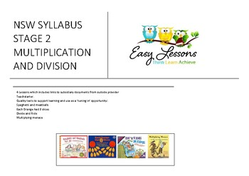 NSW SYLLABUS - MATHS - STAGE 2 - MULTIPLICATION AND DIVISION