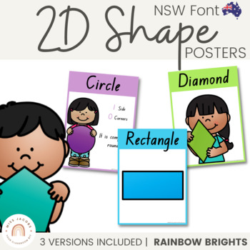 NSW Shape Posters {Rainbow Theme}