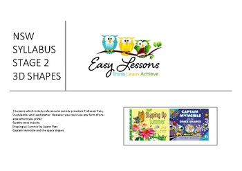 NSW Syllabus - Maths - Unit of lessons - 3D Shapes - Stage 2