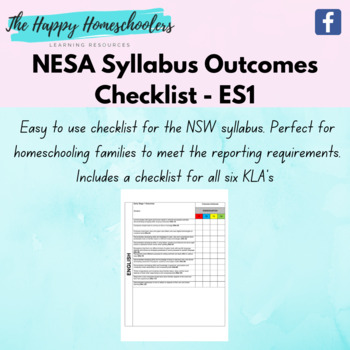 NSW Syllabus Outcomes - Early Stage 1