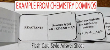 NUCLEAR CHEMISTRY ~DOMINO REVIEW~ 24 Cards + Answer Sheets + Key