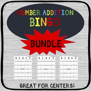 NUMBER ADDITION BINGO ACTIVITY - BUNDLE