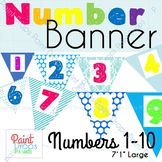 NUMBER BANNER 1-10 Large {Number Posters for Classroom Decor}