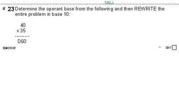 Grade 8 UNIT: Number Bases--4 worksheets (10, 15, 20 & 25 probs per skill)