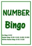 NUMBER BINGO ~ (0-10) (0-20) (0-50) (0-100)