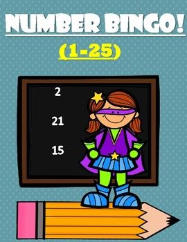 NUMBER BINGO! (1-25) - Number Recognition