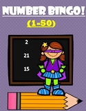 NUMBER BINGO! (1-50) - Number Recognition