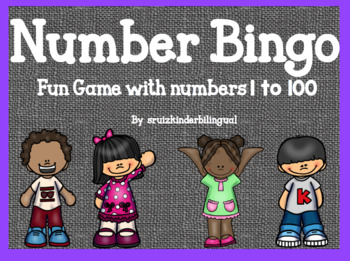 NUMBER BINGO~ fun game numbers 1 to 100~