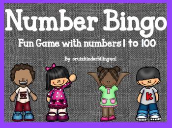 NUMBER BINGO~ fun game numbers 1 to 100~
