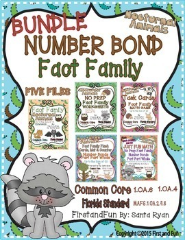 NUMBER BOND FACT FAMILY GAMES MATS COUNTERS CARDS WORKSHEE