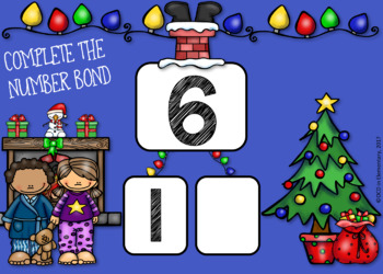 BOOM CARDS Number Bonds CHRISTMAS THEMED