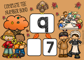 NUMBER BONDS 5 THROUGH 10 BOOM CARDS (THANKSGIVING THEMED)