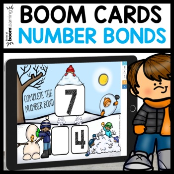 NUMBER BONDS 5 THROUGH 10 BOOM CARDS (WINTER THEMED)
