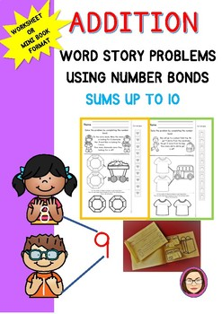 NUMBER BONDS ADDITION STORIES SUMS UP TO 10