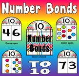 NUMBER BONDS CARDS TO 10 - RESOURCES MATHS NUMERACY DISPLAY EYFS KS1 ADDITION