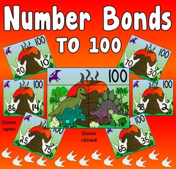 NUMBER BONDS CARDS TO 100 TEACHING RESOURCES MATHS NUMERACY DISPLAY EYFS KS1