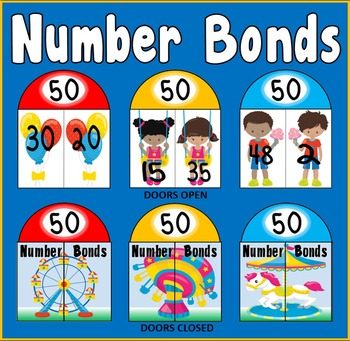 NUMBER BONDS CARDS TO 50 - MATHS NUMERACY DISPLAY EYFS KEY STAGE 1 WORKING WALL