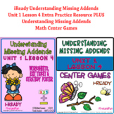 NUMBER BONDS MISSING ADDENDS i-READY MATH CENTERS AND WORKSHEETS BUNDLE