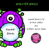 NUMBER BONDS TASK SET and PRACTICE SHEETS MONSTER BONDS