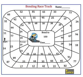 NUMBER BONDS TO 100 RACE TRACK