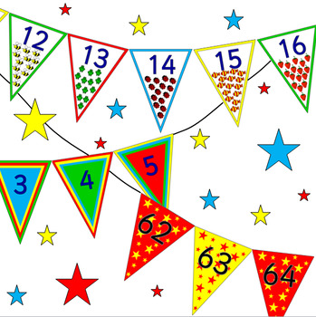 NUMBER BUNTING sets- MATH, MATHS