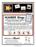 NUMBER Bingo, Number I.D., Patterning, Matching and Counting... ALL IN ONE!