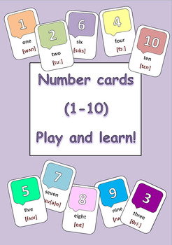 image regarding Printable Number Cards 1 10 known as Variety Playing cards (1-10)