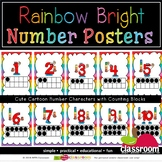 NUMBER CHARACTER POSTERS UP TO 20 - RAINBOW BRIGHT CLASSRO