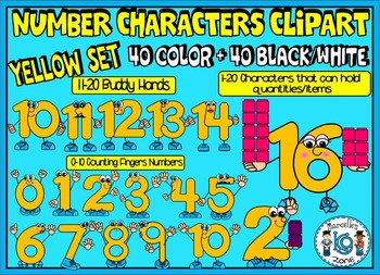 NUMBER CHARACTERS 1-20 CLIPART GRAPHICS (80 IMAGES) Commer