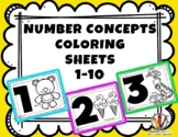 NUMBER CONCEPTS COLORING SHEETS
