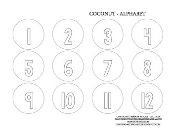 NUMBER COUNTING Coconut Tree Craft