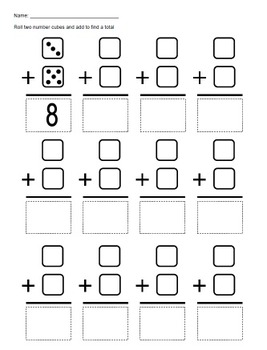 NUMBER CUBE ADDITION (dice)