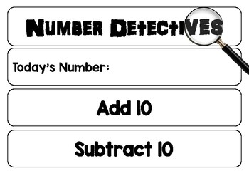 NUMBER Detectives - Using Numbers