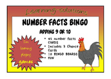 NUMBER FACTS BINGO - Adding 9 or 10
