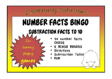 NUMBER FACTS BINGO - Subtraction facts to 10