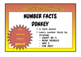 NUMBER FACTS DONKEY - 4 games - Count on 3, Near Doubles, Adding 9, The Rest.