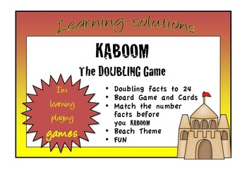 NUMBER FACTS - Doubles facts to 24 - KABOOM GAME