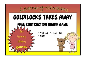 NUMBER FACTS - GOLDILOCKS TAKES AWAY - Taking 9 and 10 - FREEBIE